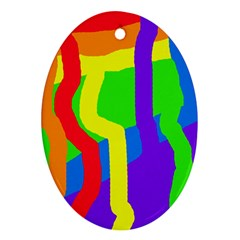 Rainbow abstraction Ornament (Oval)