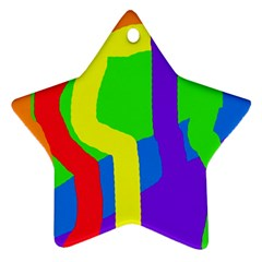 Rainbow abstraction Ornament (Star)