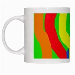 Rainbow abstraction White Mugs