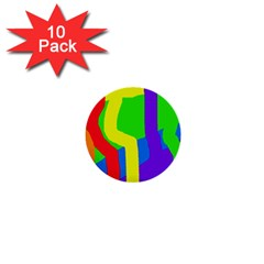 Rainbow abstraction 1  Mini Buttons (10 pack)