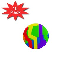 Rainbow abstraction 1  Mini Magnet (10 pack)