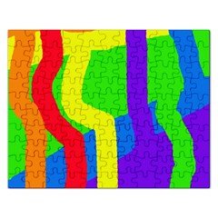 Rainbow abstraction Rectangular Jigsaw Puzzl