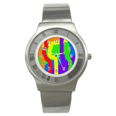 Rainbow abstraction Stainless Steel Watch