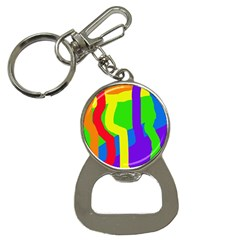 Rainbow abstraction Bottle Opener Key Chains