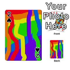 Rainbow abstraction Playing Cards 54 Designs