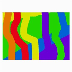 Rainbow abstraction Large Glasses Cloth (2-Side)