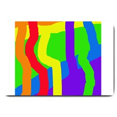 Rainbow abstraction Large Doormat