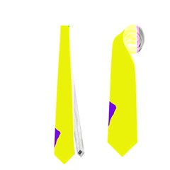 Rainbow abstraction Neckties (One Side)