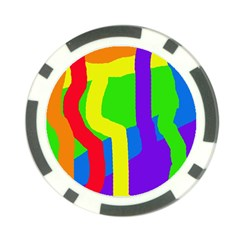 Rainbow abstraction Poker Chip Card Guards