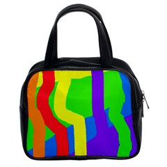 Rainbow abstraction Classic Handbags (2 Sides)