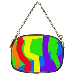 Rainbow abstraction Chain Purses (One Side)