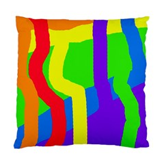 Rainbow abstraction Standard Cushion Case (One Side)