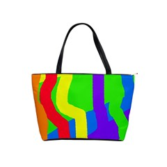 Rainbow abstraction Shoulder Handbags