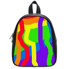 Rainbow abstraction School Bags (Small)
