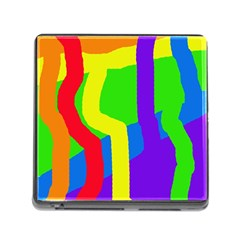 Rainbow abstraction Memory Card Reader (Square)
