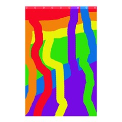 Rainbow abstraction Shower Curtain 48  x 72  (Small)