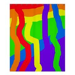 Rainbow abstraction Shower Curtain 60  x 72  (Medium)