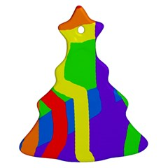 Rainbow abstraction Ornament (Christmas Tree)