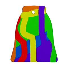 Rainbow abstraction Bell Ornament (2 Sides)