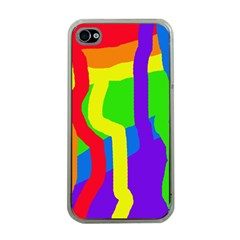Rainbow abstraction Apple iPhone 4 Case (Clear)