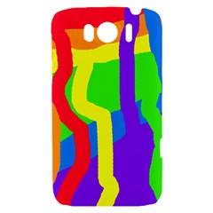 Rainbow abstraction HTC Sensation XL Hardshell Case