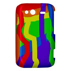 Rainbow abstraction HTC Wildfire S A510e Hardshell Case