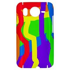 Rainbow abstraction HTC Desire HD Hardshell Case