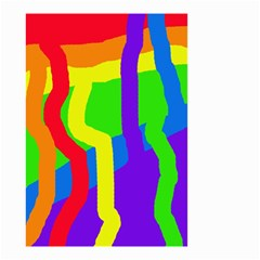 Rainbow abstraction Small Garden Flag (Two Sides)