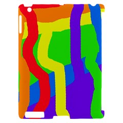 Rainbow abstraction Apple iPad 2 Hardshell Case (Compatible with Smart Cover)