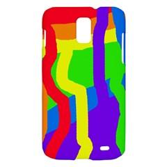 Rainbow abstraction Samsung Galaxy S II Skyrocket Hardshell Case