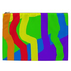 Rainbow abstraction Cosmetic Bag (XXL)