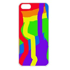 Rainbow abstraction Apple iPhone 5 Seamless Case (White)