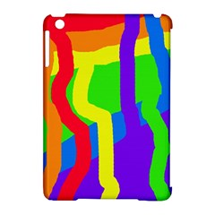 Rainbow abstraction Apple iPad Mini Hardshell Case (Compatible with Smart Cover)