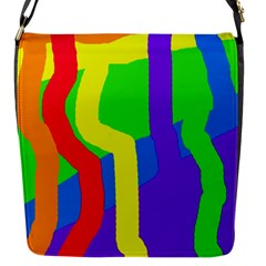 Rainbow abstraction Flap Messenger Bag (S)