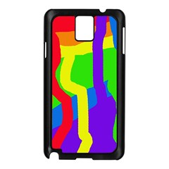 Rainbow abstraction Samsung Galaxy Note 3 N9005 Case (Black)
