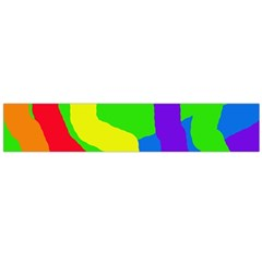 Rainbow abstraction Flano Scarf (Large)