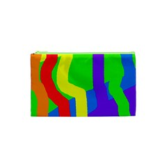 Rainbow abstraction Cosmetic Bag (XS)