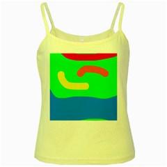 Rainbow abstraction Yellow Spaghetti Tank