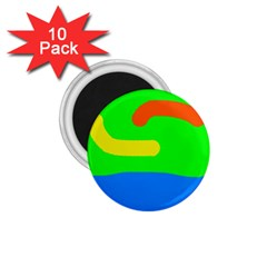 Rainbow abstraction 1.75  Magnets (10 pack)