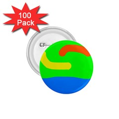 Rainbow abstraction 1.75  Buttons (100 pack)