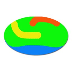 Rainbow abstraction Oval Magnet