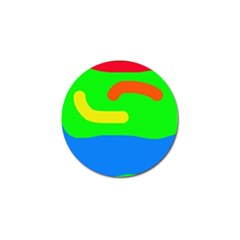Rainbow abstraction Golf Ball Marker