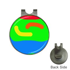 Rainbow abstraction Hat Clips with Golf Markers
