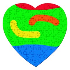 Rainbow abstraction Jigsaw Puzzle (Heart)