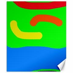 Rainbow abstraction Canvas 20  x 24