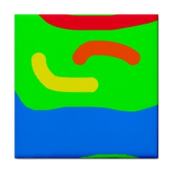 Rainbow abstraction Face Towel