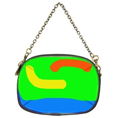 Rainbow abstraction Chain Purses (Two Sides)
