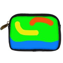 Rainbow abstraction Digital Camera Cases