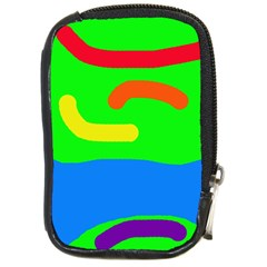 Rainbow abstraction Compact Camera Cases