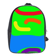 Rainbow abstraction School Bags(Large)